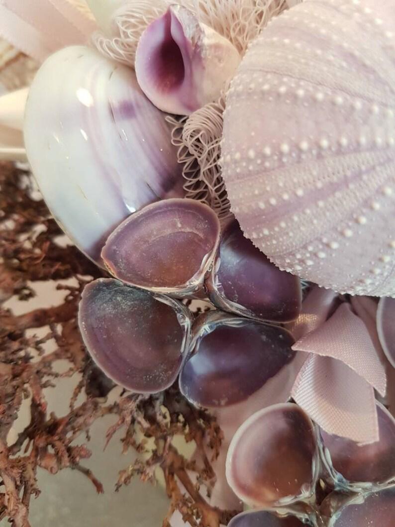 Muschelbrautstrauß im Korallenlook | altrosa, lila