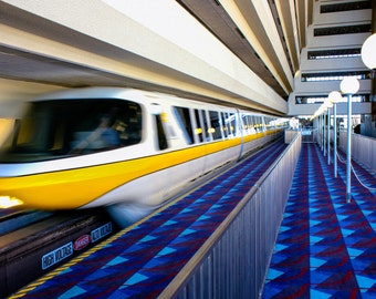 Disney World Magic Kingdom Resort - Monorail - Contemporary Resort - Fine Art Print - Walt Disney World Art - Picture Photo Photography