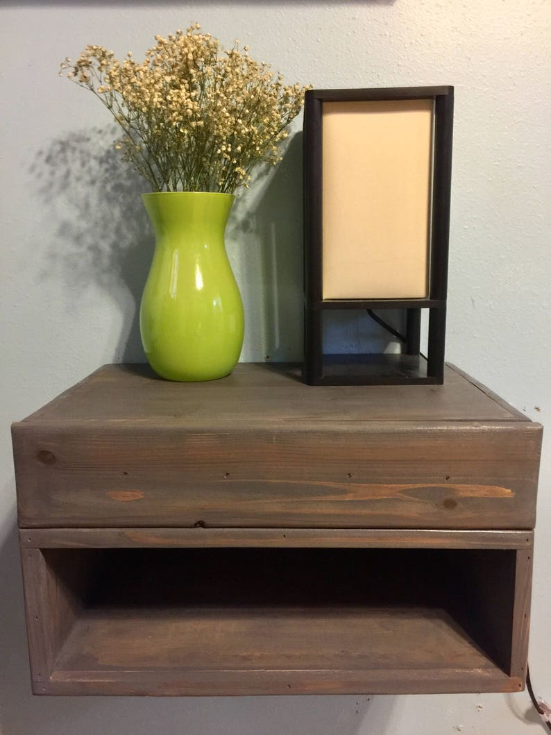 Floating Nightstand With Drawer 20x12x11