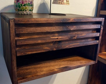 Floating Nightstand with Drawer Dimensions (20x12x11)