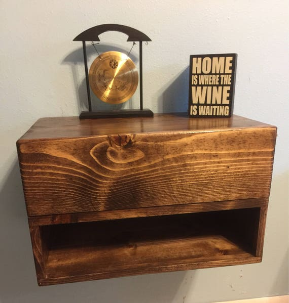 Floating Nightstand With Drawer Dimensions 20x12x11 Etsy