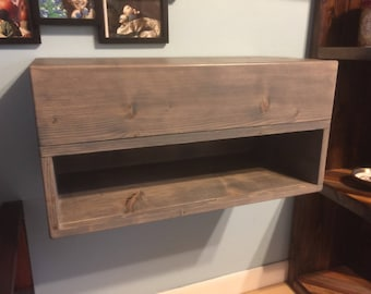 Floating Nightstand with Drawer Dimensions (24x12x12)