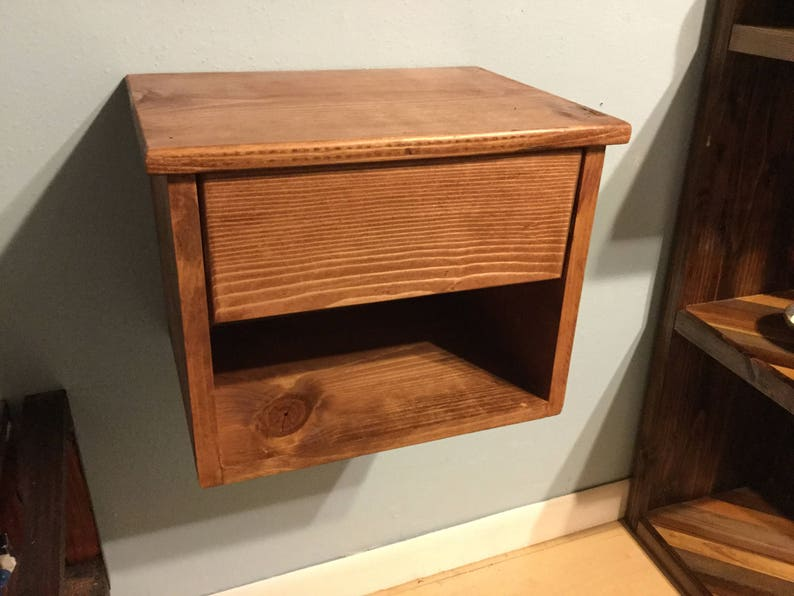 Floating Nightstand With Drawer Dimensions 15 5x11 25x12