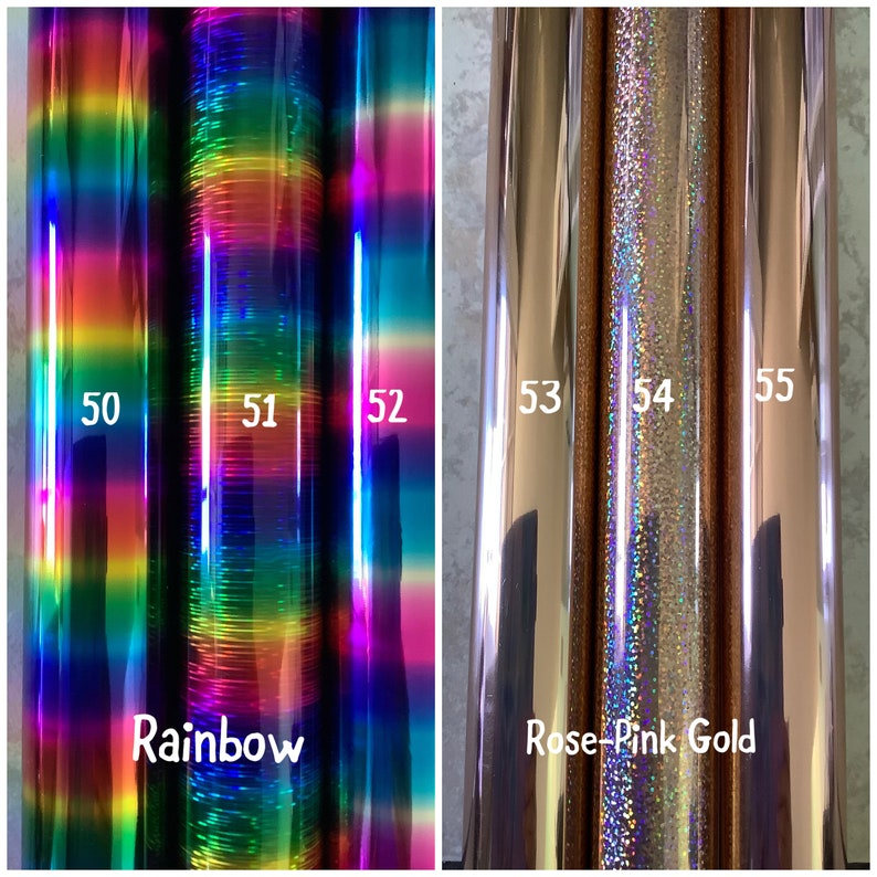 Transparency Foiled Resin Sheets New
