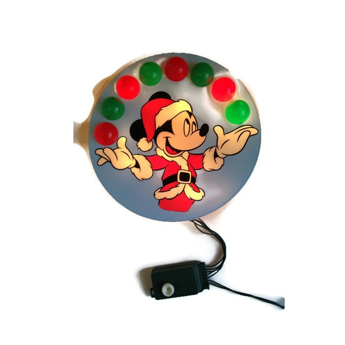 Mickey Christmas Tree Topper: Vintage Juggling Mickey 40 Light Tree Topper Vintage