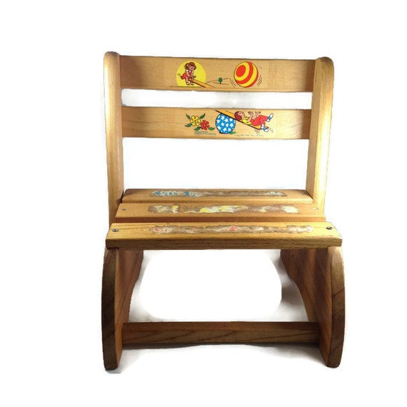 Magnificent Vintage Childs Folding Chair Or Stool By Nu Line Industries Kids Wooden Chair With Pictures Of Children Playing On See Saw Made In Usa Inzonedesignstudio Interior Chair Design Inzonedesignstudiocom