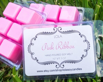 Lola Pink Ribbon Highly Scented Soy Blend Wax Cubes 3oz