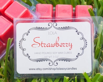 Lola Strawberry Highly Scented Soy Blend Wax Cubes 3oz