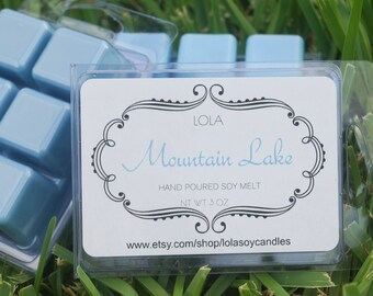 Lola Mountain Lake Highly Scented Soy Blend Wax Cubes 3oz