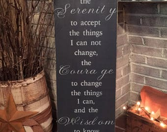 Serenity prayer - large primitive wooden distressed sign