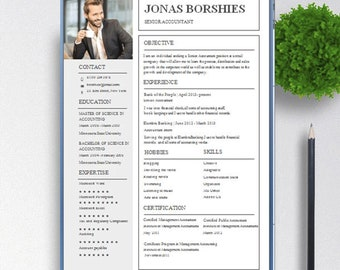 Pages And Openoffice Cv Template For Ms Word Free Cover Etsy Resume