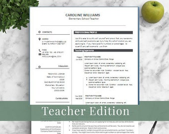 educator resume template for word and pages elementary template 1 3 page educator resume principal resume creative teaching resume