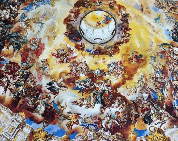 Vintage Religion Church Benedictiner Abtei Ettal Postcard Maria Photo