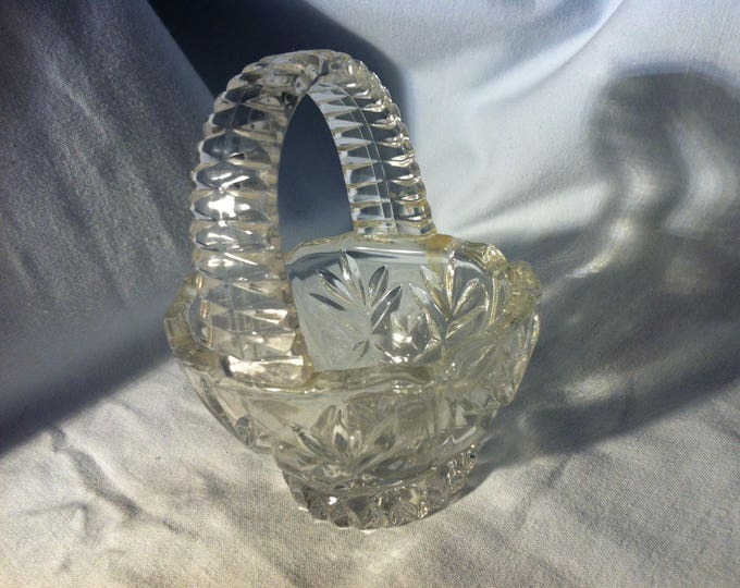 Vintage Glass Basket Nice decoration object