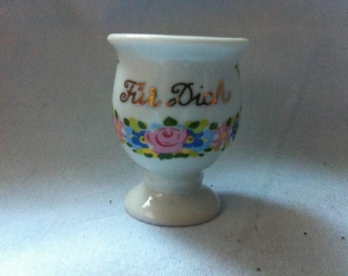 Vintage Porcelain Cup W Germany Flower Decor Miniatures Dollhouse Accessoires