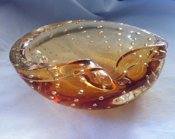 Vintage Italy Murano, Ashtray, Glass Design Object Decorativ