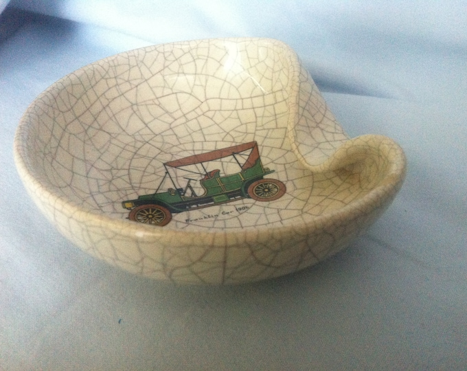 Vintage porcelain Ashtray Decorations Object Oldtimer
