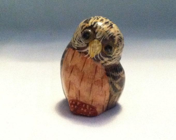 Vintage wood carved Owl beautiful deco