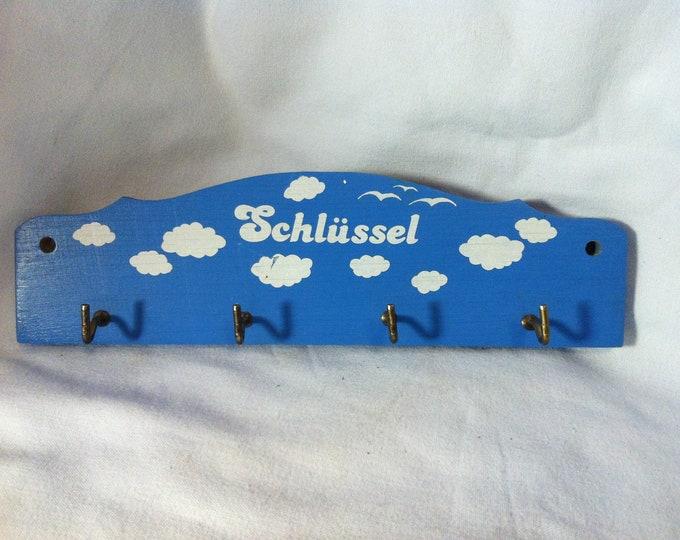 Vintage wood key strip board accessoires german decoration