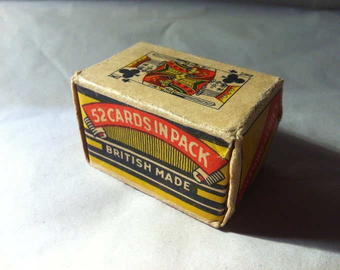 Antique card Game Games cards Clifford series 52 STK miniature in shipped British made