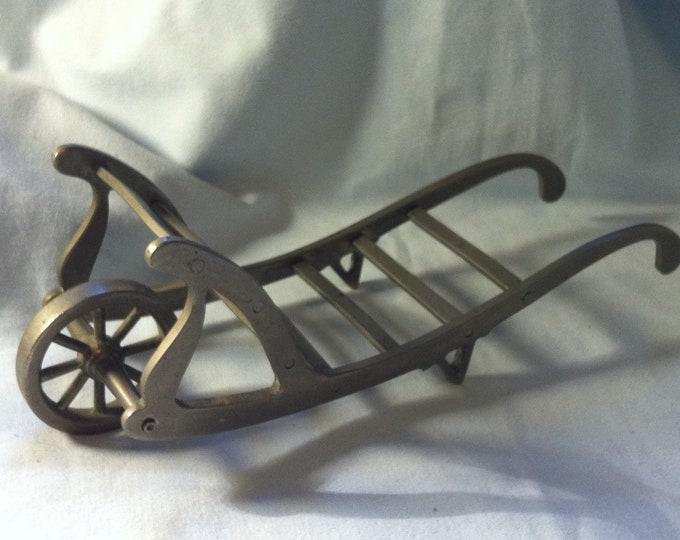Vintage wheelbarrow Dollhouse or Garden Decoration