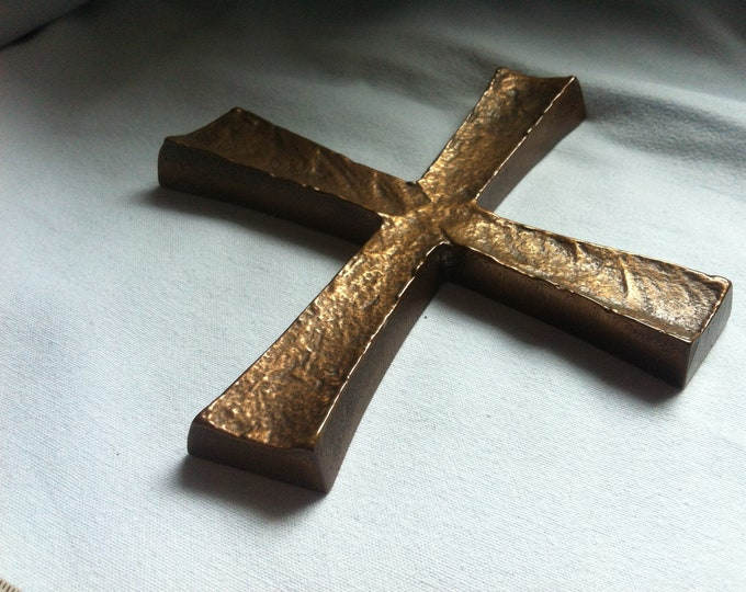 Vintage Metal Christianity Cross Spiriuality Communion decoration #3