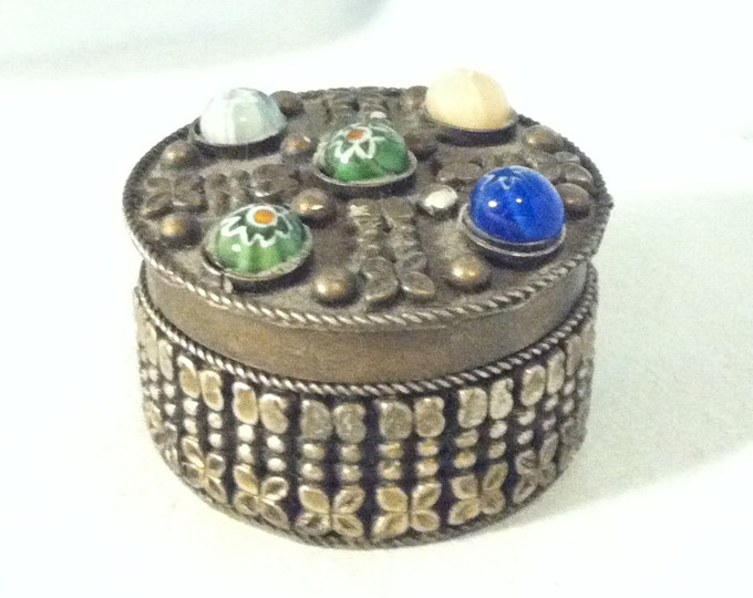 Vintage German Souvenir Trinket Jewelery Box beautiful Decoration