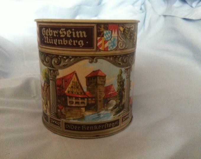 Vintage Nuremberg gingerbread tin can decoration