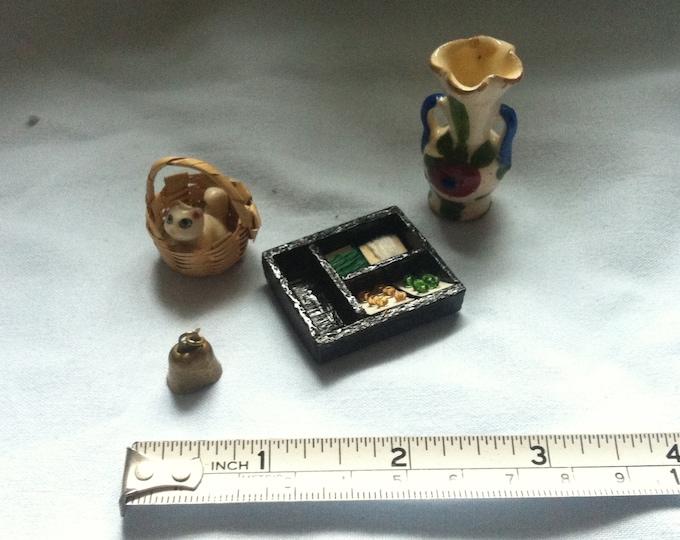Vintage Miniature Convolute Doll Parlor Decoration