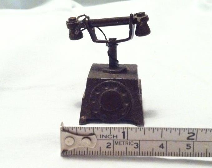 Antique phone dollhouse miniatur accessoires