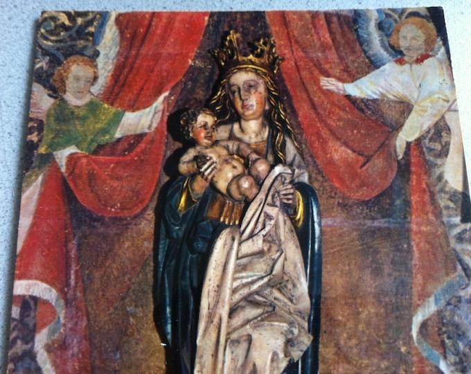 Vintage Religion Church Cathedrale Saint-Étienne Postcard Maria Photo