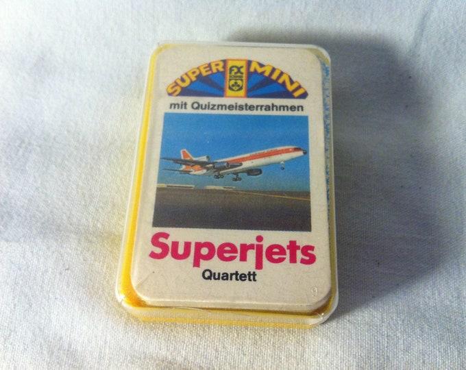 Vintage Games Quartet Super Mini Superjets card games cards