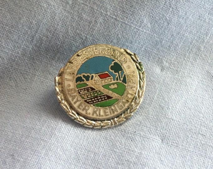 Vintage National Association Bayer. Small Gardener pin badges souvenir Memory Accessories Pins