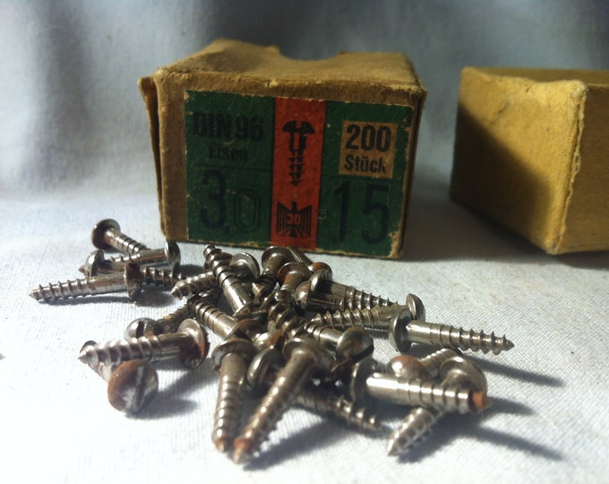 Vintage slotted Screws 25 pieces 15 mm restoration requirements