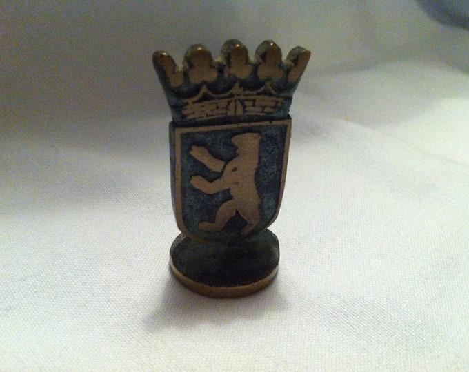 Vintage Metal Berlin Seal? Brass or Bronze