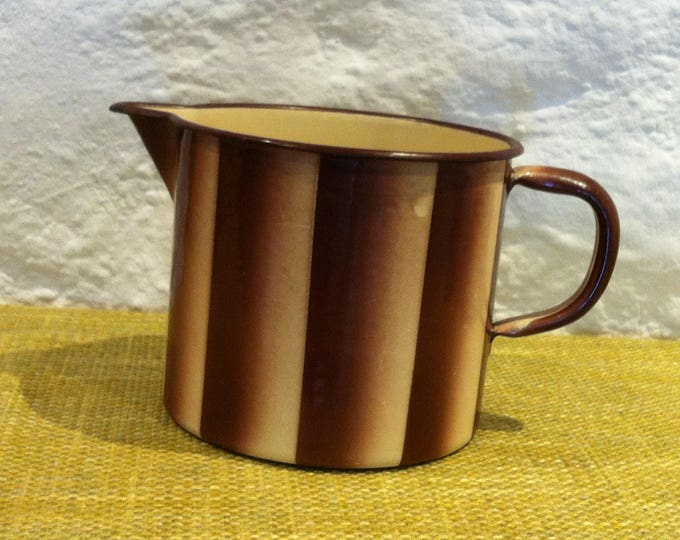 Vintage jug Fuldensia prima mug Spritzdecor enamel spray decoration, email, shabby top condition