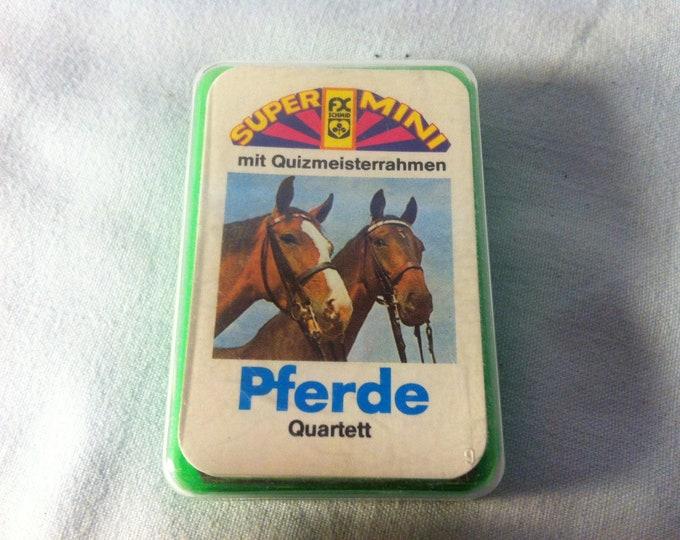 Vintage Games Quartet Super Mini horses card games cards
