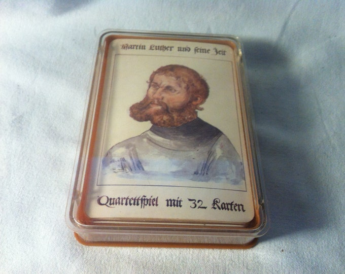Vintage Games quartet Martin Luther and his time card games cards
