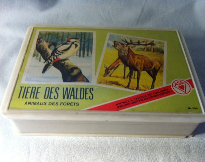 Vintage Games Quartet Animals of the forest/Animaux of the Forets card games cards