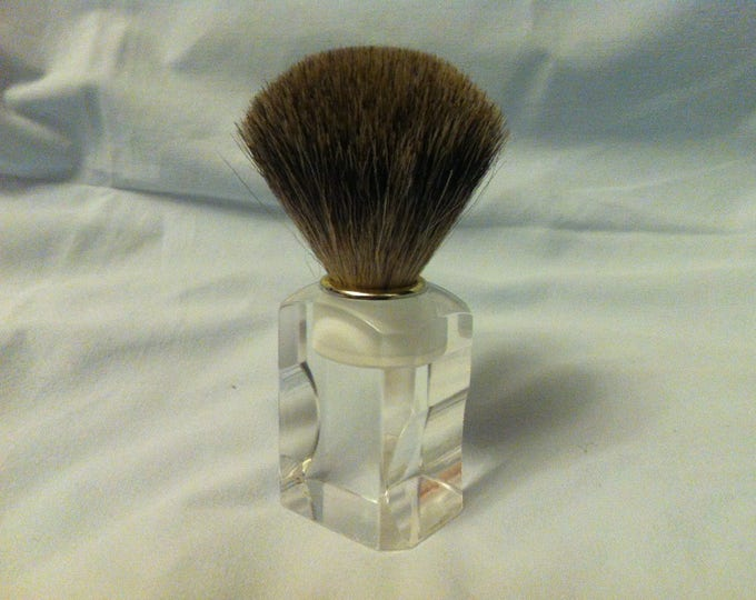 Vintage brush Badger razor shave #1