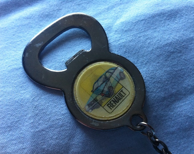 Vintage bottle opener Renault car advertising opener