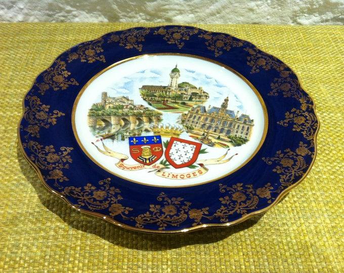 Plate ceramic porcelain Limoges France, pottery, rustic dishes, dinnerware set, ceramic dish set, porcelain dinnerware, serving set