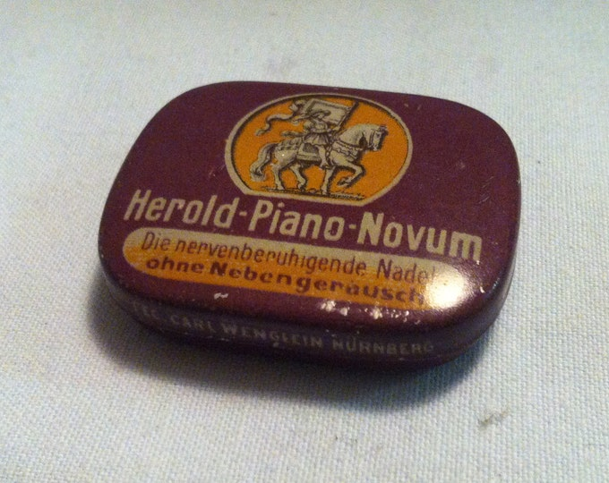 Vintage tin can Herold - Piano - Novum gramophon Germany