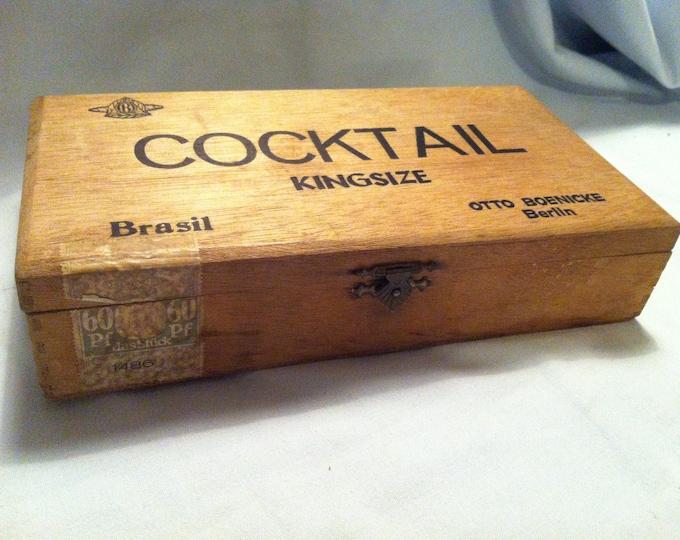 Antique Cigars wooden Box box cigar boxes, decoration collectors