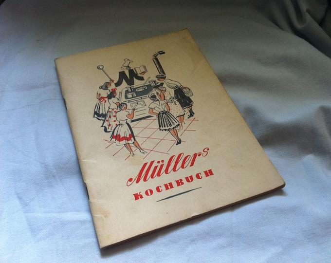 Vintage Müllers Cookbook Old book Collector