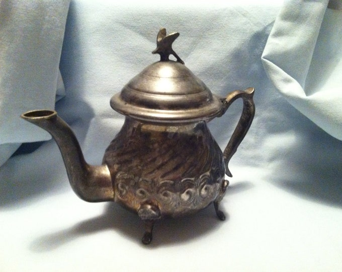 Vintage Teapot can Morocco city FAs Gazal Mint Tea