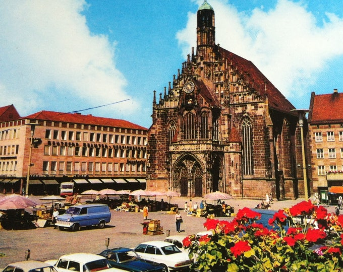 Vintage Religion Nuremberg Church Postcard Maria Photo