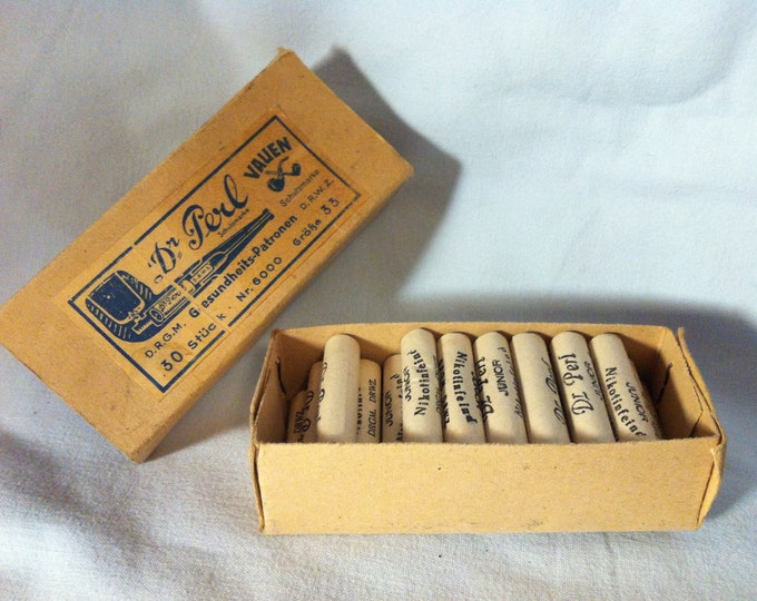 Vintage Dr Perl pipe accessoires nicotine enemies
