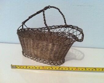 Vintage metal Basket Accessoires deco