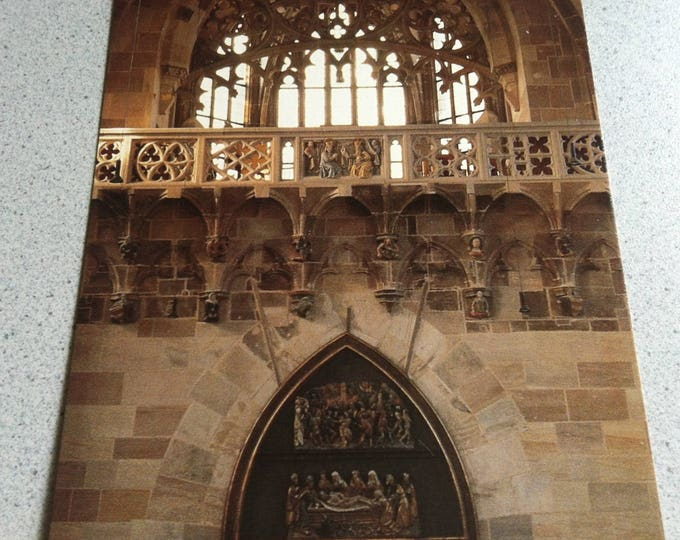 Vintage Religion Nuremberg Frauenkirche Church Postcard Maria Photo